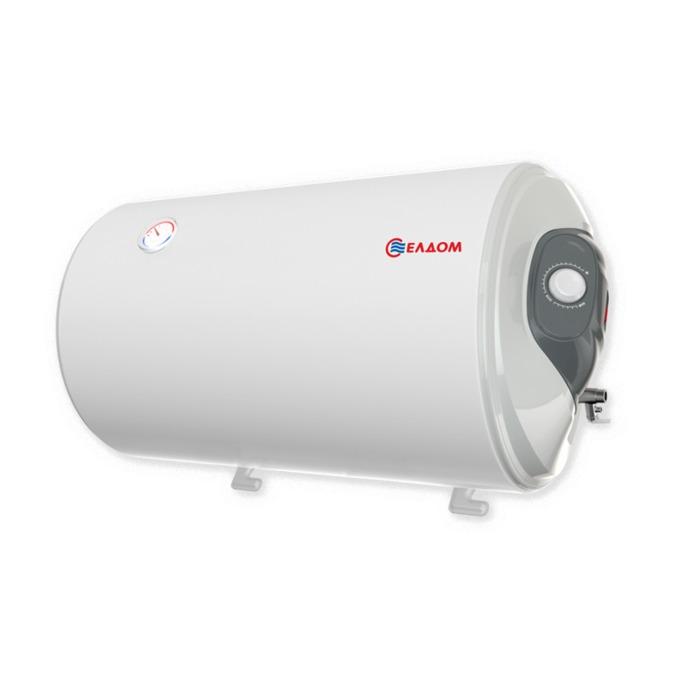 Електрически бойлер Елдом WH08046R 80L 3KW, 80 л., хоризонтален, мощност 3 kW, емайлиран, енергиен клас D, 46.2 x 83.5 x 48.4 cm, Енергоспестяващ image