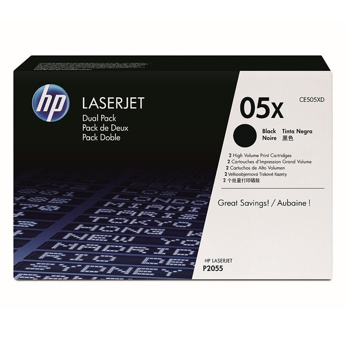 КАСЕТА ЗА HP LASER JET P2055  - Black Twin Pack - P№ CE505XD - заб.: 2x6500k image