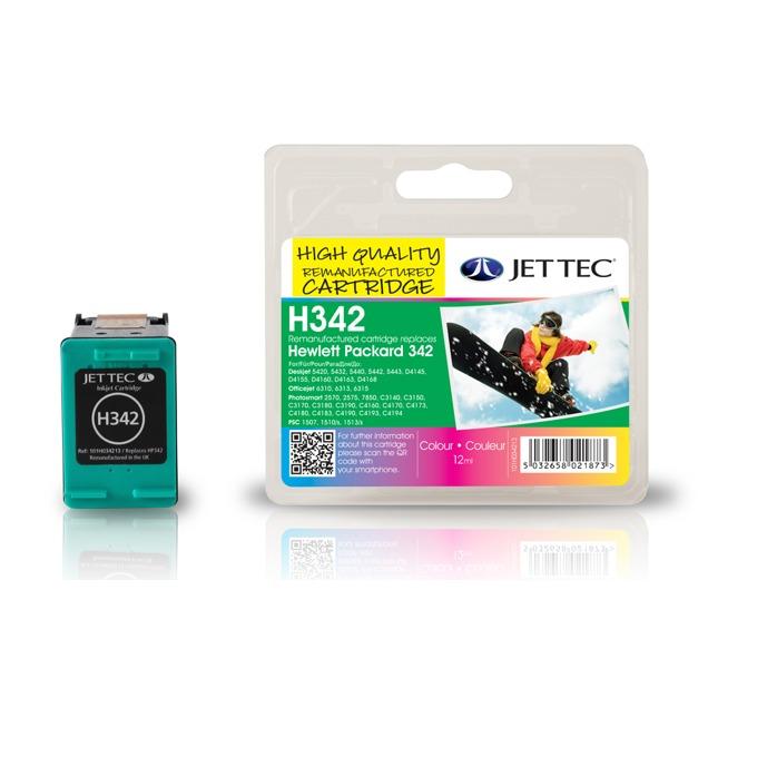 Глава за HP DJ 5440, OJ6310AiO, PhotoSmart 2575/C3100/C3180/C4180, PSC 1510 - Color - C9361E, HP342 - Неоригинална - Jet Tec - Заб.: 12 ml image