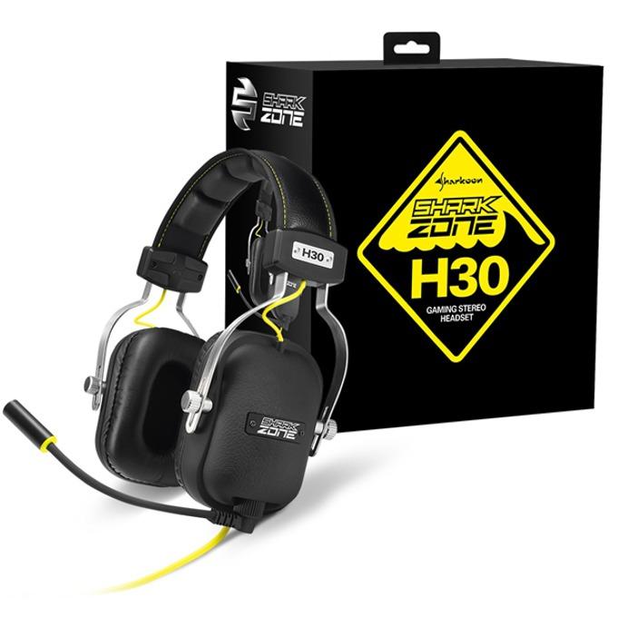 Слушалки Sharkoon Zone H30, микрофон, 3.5mm Jack, 20 Hz - 20 kHz, черни image