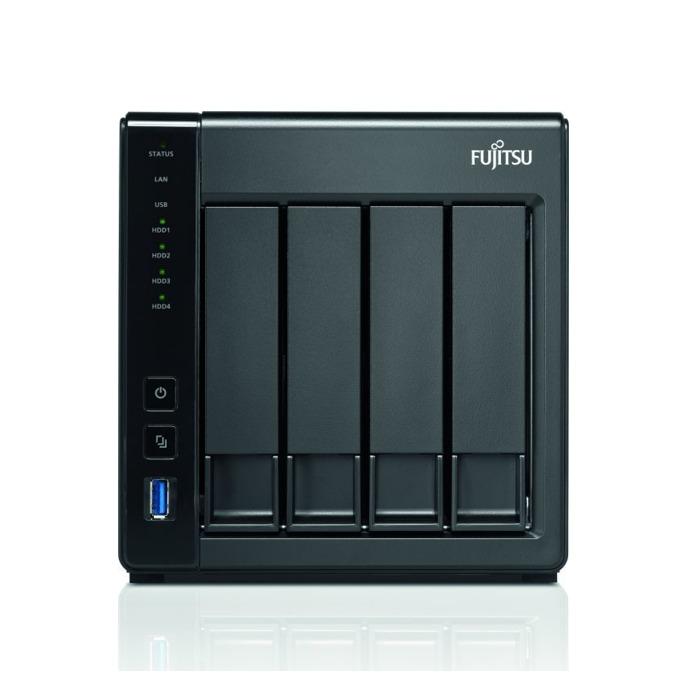 Fujitsu Celvin NAS QE807 (S26341-F108-L843), двуядрен Annapurna Labs Alpine AL-212 1.7GHz, 1GB DDR3D, 12TB (4x 3TB) HDD SATA, 2x RJ-45, 2x USB 3.0 image