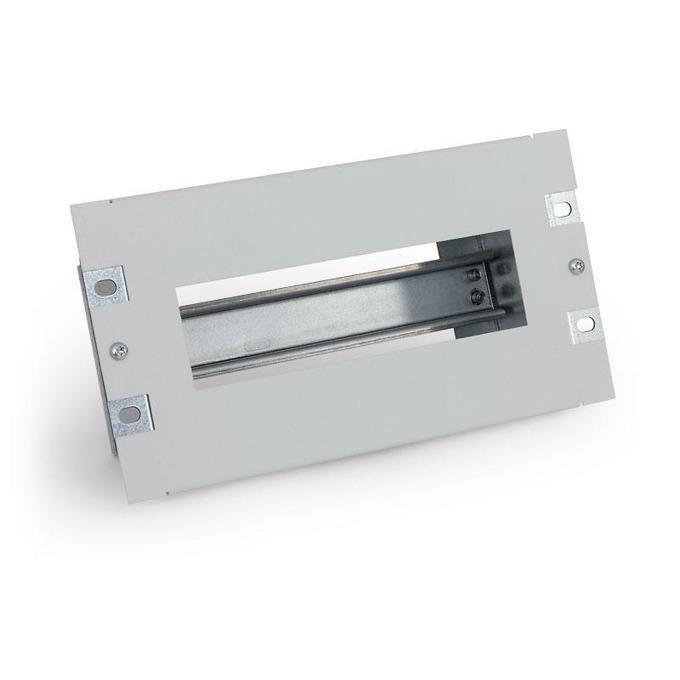 """Електроразпределителен панел Triton RAC-JL-X01-C1, 19"""", 3U, DIN rail, разглобяем, за 10 модула image"""