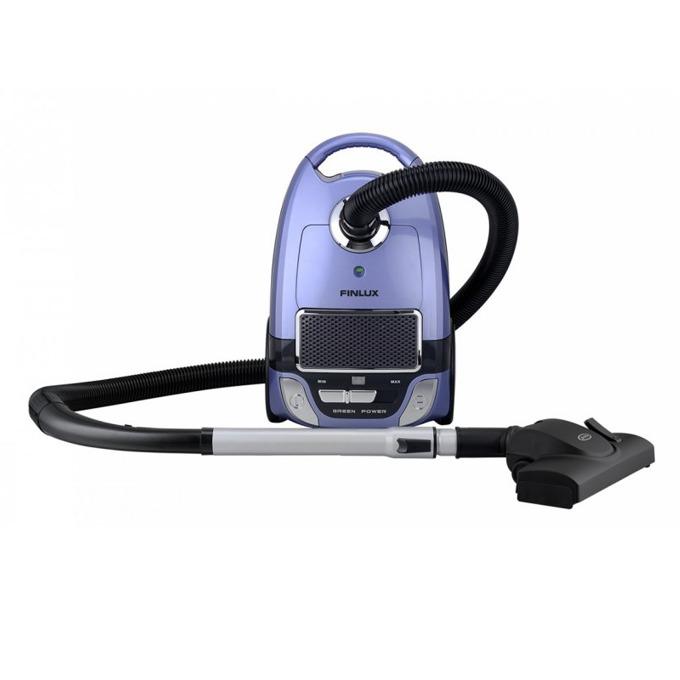 Прахосмукачка Finlux FVC-450P EcoPro AA, с торба, 500 W, 3 л. капацитет на торбата, енергиен клас A++, HEPA филтър, лилава image