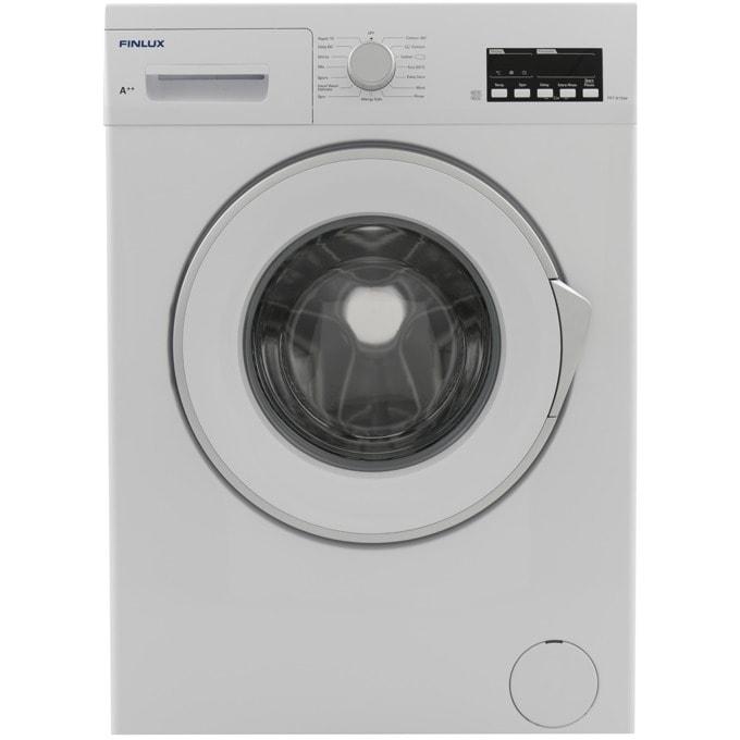 Перална машина Finlux FX7 815W, клас А++, 7 кг. капацитет, 800 оборота в минута, 15 програми, свободностояща, 60 cm. ширина, таймер за отложен старт, бяла image