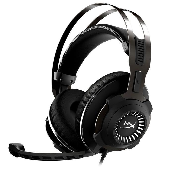 Слушалки HyperX Cloud Revolver S, разглобяем микрофон, Noise-cancelling, 50mm говорители, бързи бутони за контрол, гейминг, черни  image