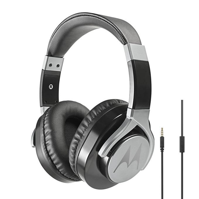 Слушалки Motorola Pulse Max Wired, микрофон, 40мм говорители, дълбок бас, сваляем 1.2м кабел, черни image