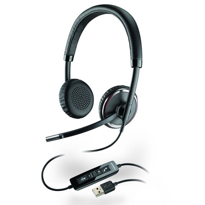 Слушалки Plantronics Blackwire C520, жични, шумоизолиращ микрофон, Smart sensor, DSP. USB, черни image