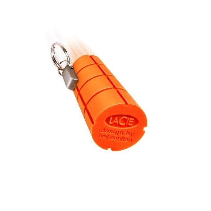 Памет 32GB USB Flash Drive, LaCie Rugged Key, USB 3.0, удароустойчива, оранжева image