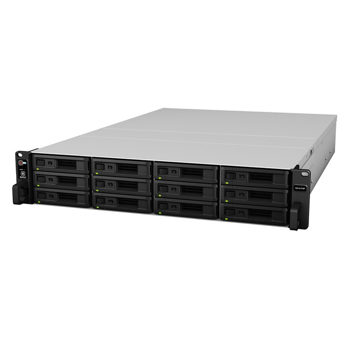 "Synology RackStation (RX1217), Ultimate SAS & SATA Storage, 12 слота SATA3 2.5""/3.5"", 1x expansion port, infiniband cable  image"