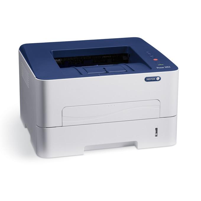 Лазерен принтер Xerox Phaser 3052NI, 4800x600dpi, 26стр/мин, 256MB, USB, Ethernet, WiFi image