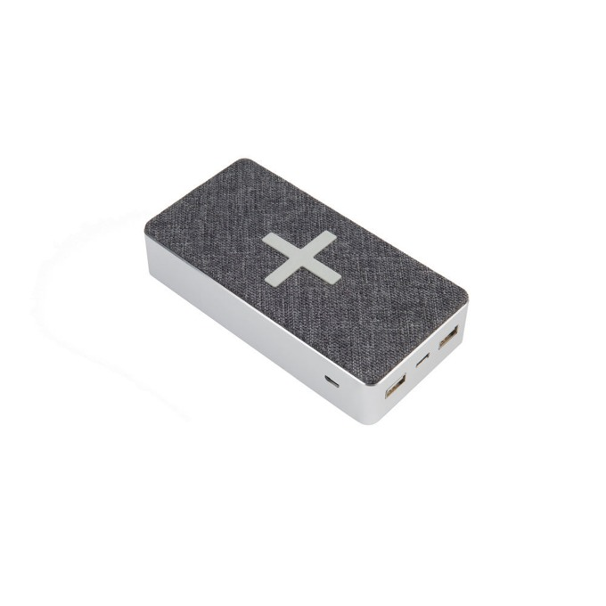 Външна батерия /power bank/ A-Solar Xtorm XW301 Qi Pad Motion, 16.000mAh, от USB-C 5V/2A, Micro USB 5V/2A към Qi Wireless 5W, 7.5W, 10W / 2x USB 5V/2A / 1x USB-C 5V/2A, сивo, безжично зареждане image