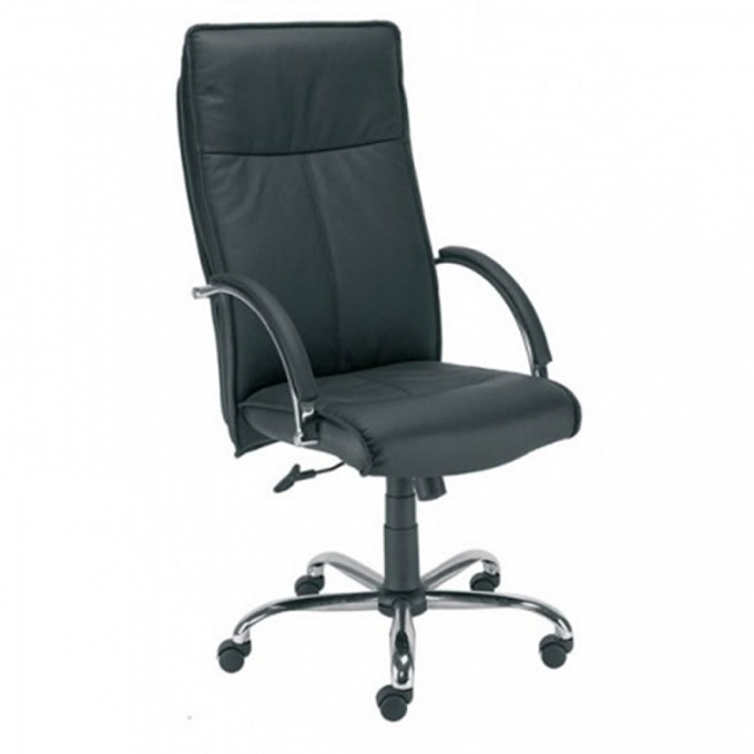 Директорски стол Sabio Chrome, еко кожа, хромирана основа, черен image