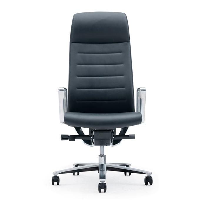 Директорски стол RFG Lider HB, екокожа, черна седалка, черна облегалка image