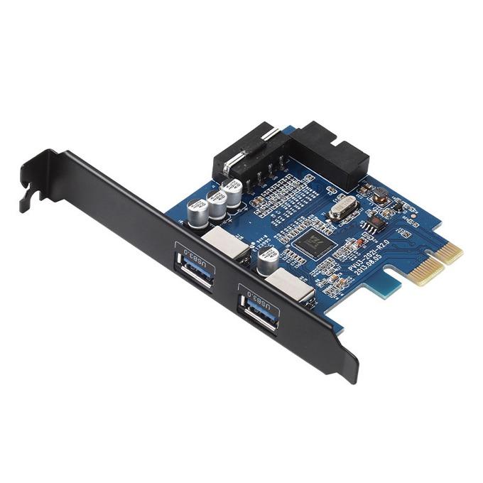 Контролер Orico PVU3-2O2I, от PCIe x1 към 2x USB 3.0(ж), 5.0 Gbit/s image