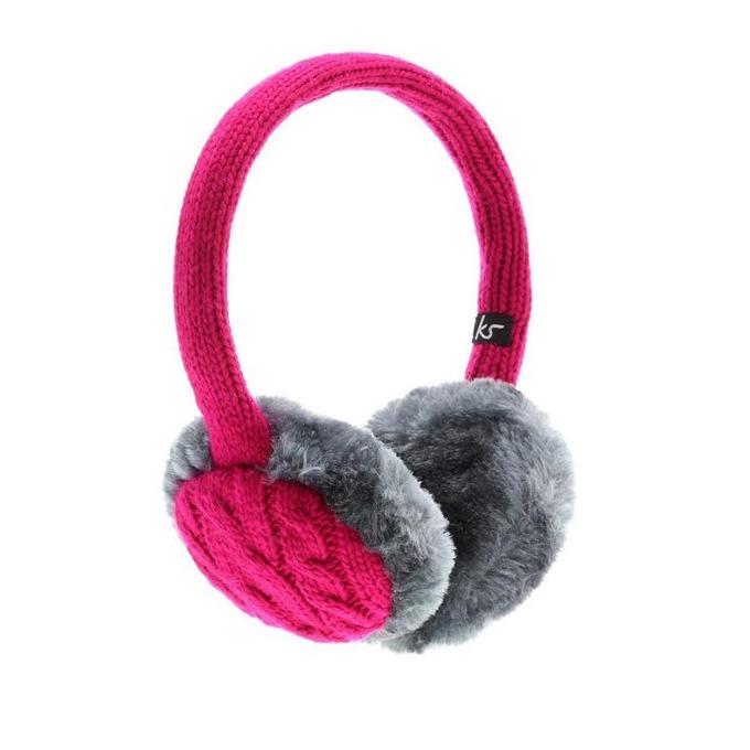 Слушалки KitSound InLine Earmuffs, розови, с ушанки, микрофон image