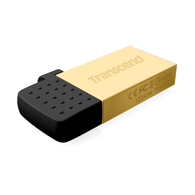 16GB USB Flash Drive, Transcend JetFlash 380G, USB 2.0/microB USB (OTG), златиста image