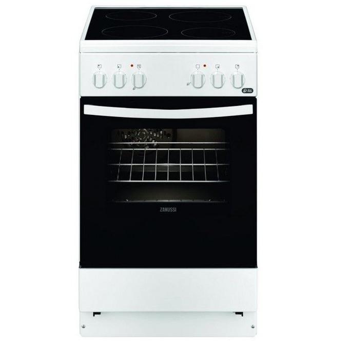 Готварска печка Zanussi ZCV550G1WA, електрическо захранване, 4 нагревателни зони, 54л. обем на фурната, инокс image