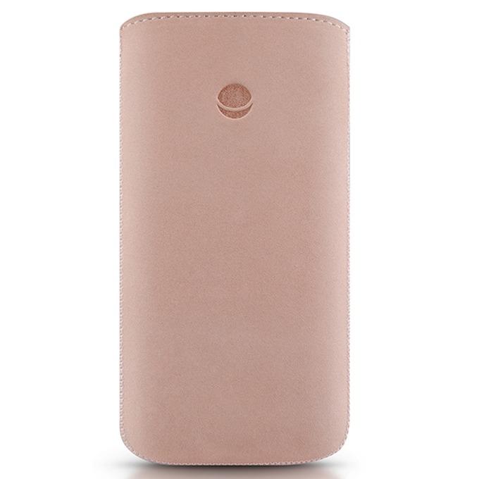 Калъф за Apple iPhone 5/5S/SE BEYZA RetroStrap Plus Leather Case, лента за вадене, розов image