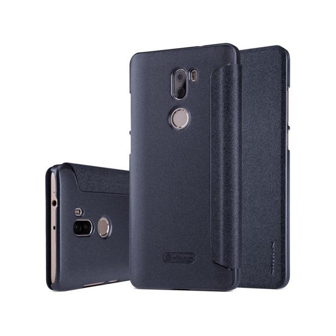 Калъф Xiaomi Mi 5S Plus, отваряем, кожен, Nillkin Sparkle Mi 5S Plus, черен image