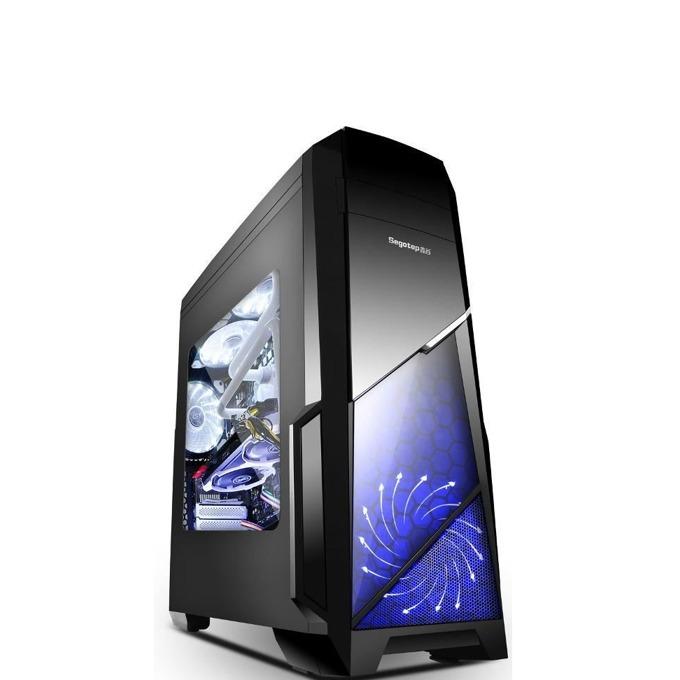 Кутия Segotep Sprint V2, АТХ/mATX/mITX, 1x USB 3.0, 2x USB 2.0, прозорец, черна, без захранване image