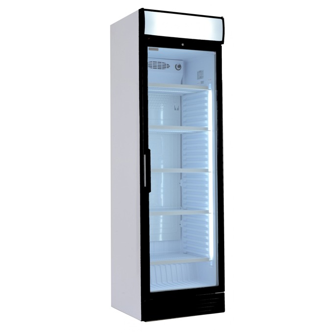 Хладилна витрина Crown D 372 R600 / D 372 SC M4C, 365 л. обем, свободностояща, заключване, LED осветление, двойно темперирано стъкло,  image