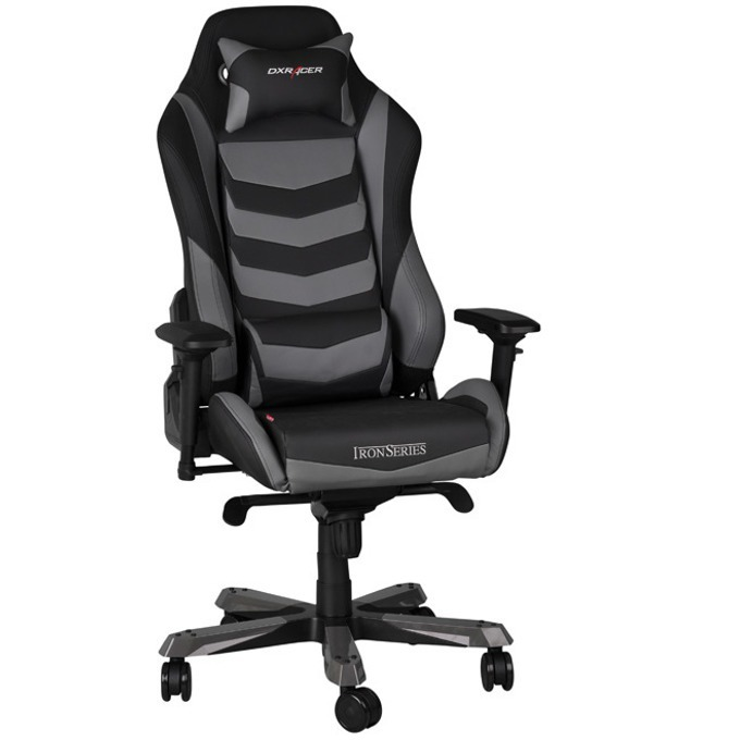 Геймърски стол DXRacer Iron OH/IF166/NG, черен/сив image