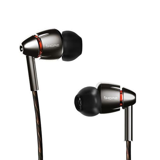 Слушалки 1MORE Quad Driver, микрофон, Quad Driver технология, контрол на звука, Kevlar Core кабел, черни image