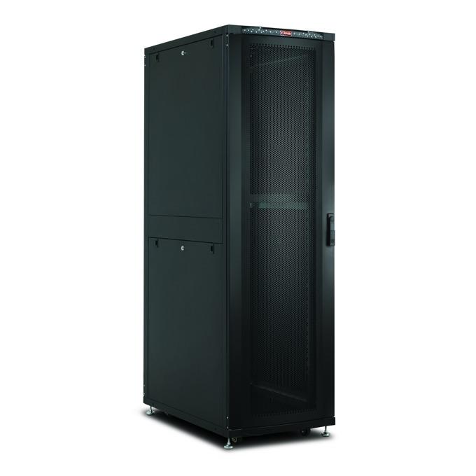 """Комуникационен шкаф Lande LN-SR42U6010-BL-241, 19"""", 42U, 600 x 1000 мм, перфорирана врата, черен image"""