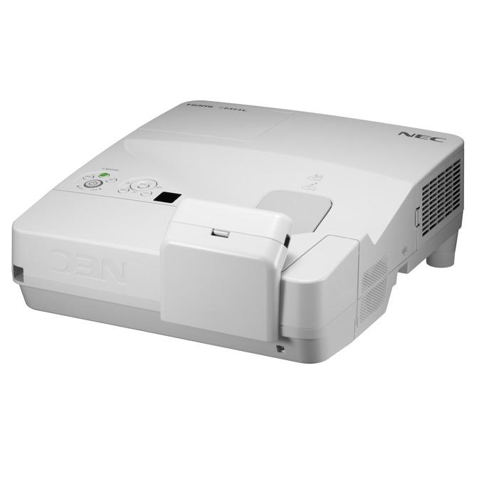 Проектор NEC UM301Wi-MT, LCD WXGA (1280x800), 6000:1, 3000 lm, VGA, HDMI, RS232, RCA, USB, бял image