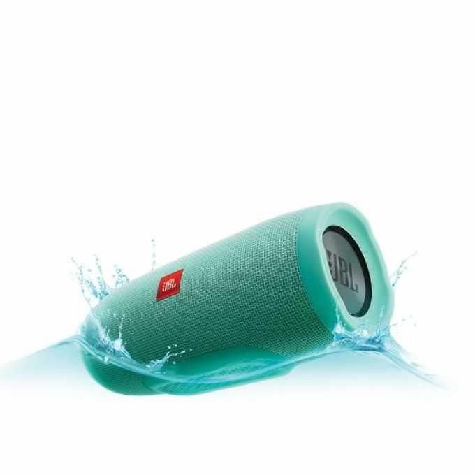 Тонколона JBL Charge 3, 2.0, 20W RMS, безжична, 3.5mm jack/Bluetooth, синьо-зелен, микрофон, IPX7, до 20 часа работа image