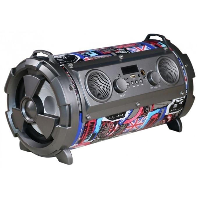 Тонколона Omega OG72P Bazooka, 2.1, 25W RMS, Bluetooth, AUX, USB, FM радио, MicroSD слот, многоцветна image