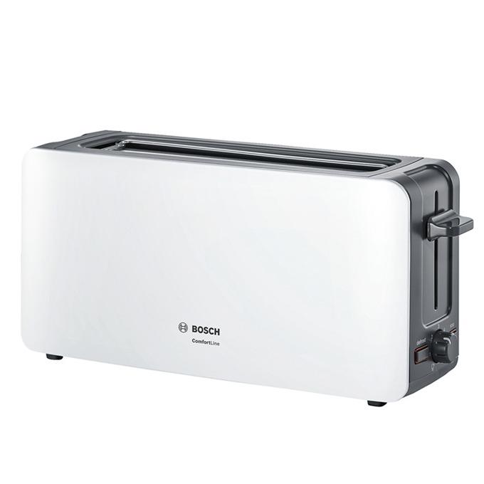 Тостер Bosch TAT6A001, функция за размразяване, сензор за равномерно препичане, 1090 W, бял image