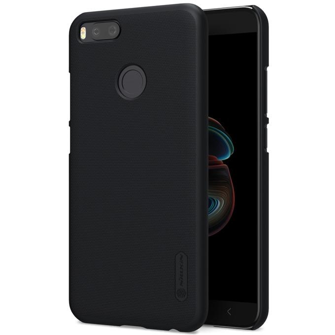 Калъф за Mi A1, страничен с гръб, пластмаса, Nillkin, черен image
