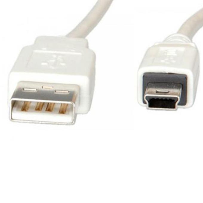 Кабел Roline S3142-250, USB A(м) към USB Mini B(м), 1.8m, бял image
