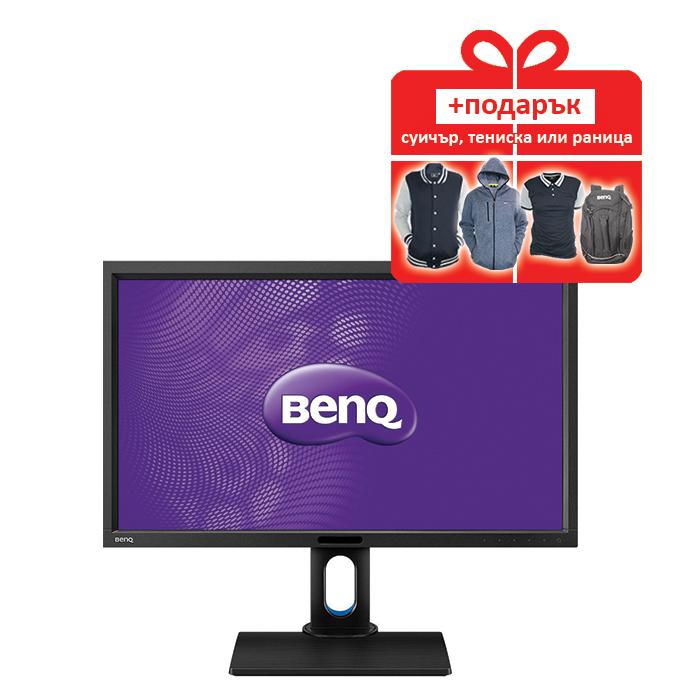 """Монитор 27"""" (68.58 cm) BenQ BL2711U, 100% sRGB, IPS панел, 4K2K LED, 4ms, 20 000 000:1, 300 cd/m2, DisplayPort, HDMI, DVI, USB3.0 image"""