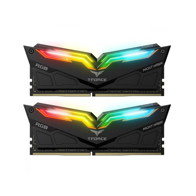 Памет 16GB DDR4 3200 MHz, Team Group NIGHT HAWK RGB, TF1D416G3200HC16CDC01, 1.35V image