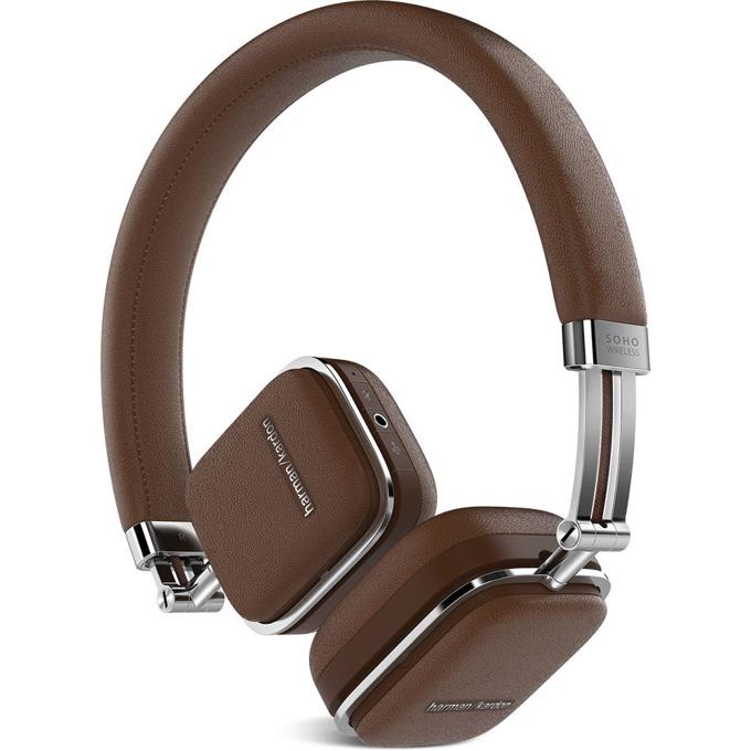 Слушалки Harman Kardon SOHO BT, безжични, микрофон, управление на звука, кафяви image