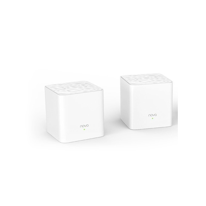 Wi-fi система Tenda AC1200 Whole Home Mesh (2-pack), 2.4GHz(300Mbps)/5GHz(867Mbps), Wireless AC, 2x 10/100/1000, 1x WAN1000, 2x вътрешни 3dbi антени image