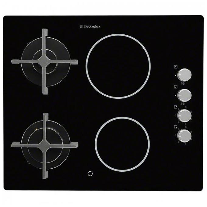 Комбиниран плот за вграждане Electrolux EGE 6172 NOK, 4 нагревателни зони, индикация за оставаща топлина, защита от изтичне на газ, черен image