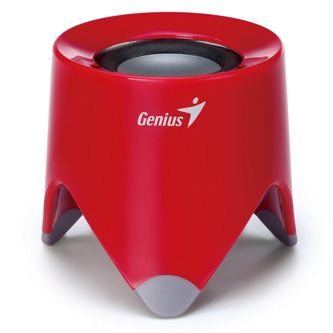 Тонколона Genius SP-i165, 1.0, RMS 2W, 3.5mm jack, червена, вградена батерия image