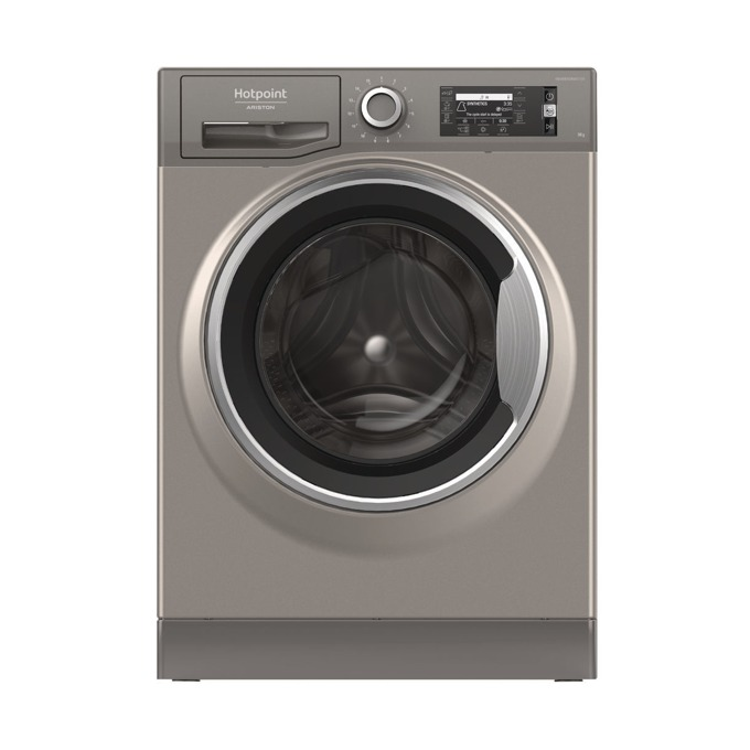 Перална машина Hotpoint-Ariston NLLCD 946 GS A EU, клас A+++, 9 кг. капацитет, 1400 оборота в минута, свободностояща, 60 cm. ширина, 15 програми, сребрист image