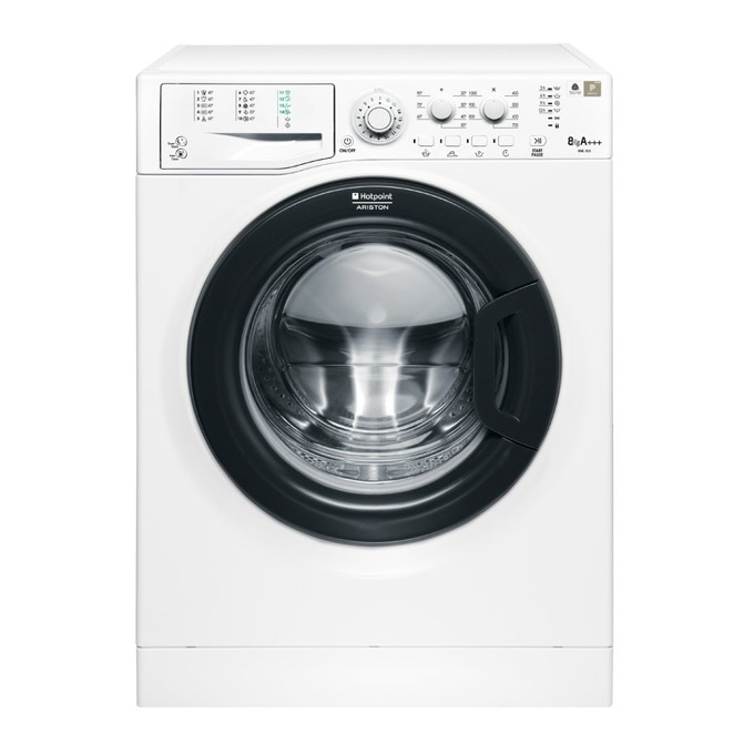 Перална машина Hotpoint-Ariston WML 803 B EU, клас A+++, 8 кг. капацитет, 1000 oборота в минута, 16 програми, LED дисплей, 60 cm. ширина, бяла  image