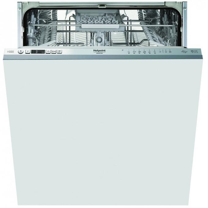 Съдомиялна за вграждане Hotpoint-Ariston HKIO 3C21 C W, клас A++, 14 комплекта, 9 програми, 7 сегментен дисплей, със система против наводняване Aquastop, поставка за прибори, таймер за отложен старт, бяла image