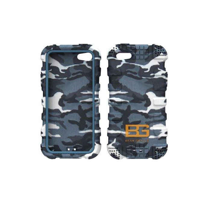 Силиконов протектор Jivo Bear Grylls Action Case, защита от най-висок клас, за iPhone 5/5S, сив кумуфлаж image