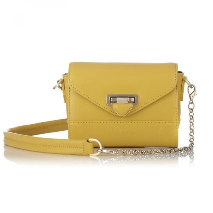 "Чанта за смартфон Knomo Zion Leather Cross Body, 4.7""(11.9 cm), естествена кожа, жълта  image"