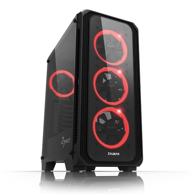 Кутия Zalman Z7 NEO RGB Sync, ATX, Micro-ATX, Mini-ITX, 1x USB 3.0, прозорец, черна, без захранване  image