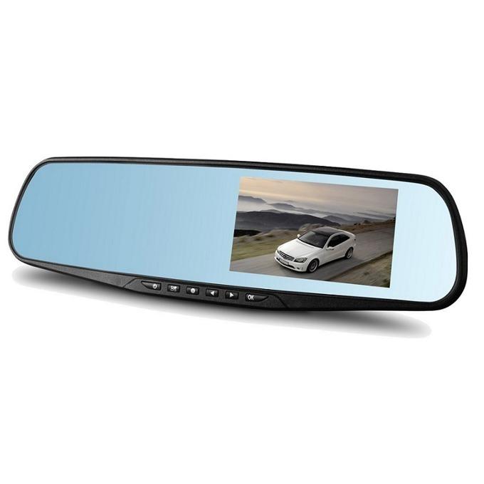 """Видеорегистратор Q-see 818, камера за автомобил, тип огледало, Full HD 1920x1080P, 4.3"""" (10.92) TFT LED дисплей, TF слот, широкоъгълен обектив, сензор за движение image"""