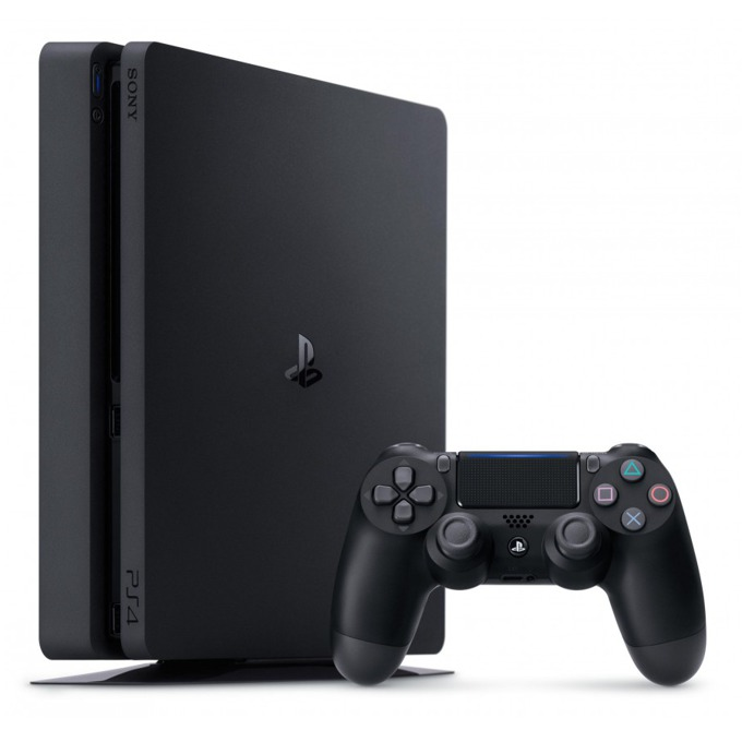 Конзола Sony PlayStation 4 Slim (нарушена опаковка), 500GB HDD, черна image