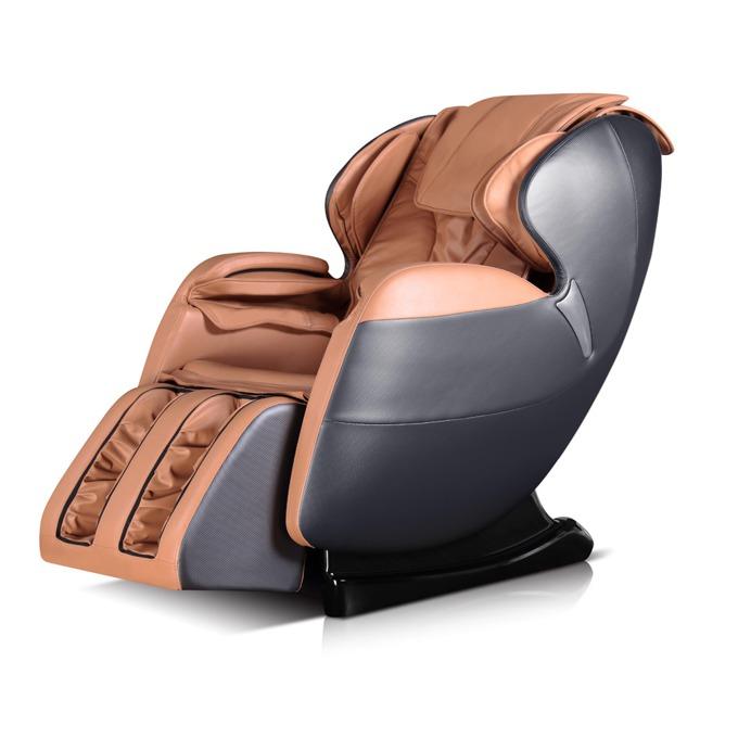 Масажен стол Rexton GJ-5101, еко кожа, ролков механизъм, многофункционално дистанционно управление с дисплей, колела, крачна секция, светло кафяв-капучино image