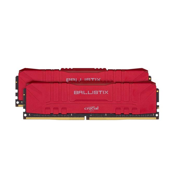 Памет 32GB (2x16GB) DDR4 3200MHz, Crucial Ballistix (Red) BL2K16G32C16U4R, 1.35V image
